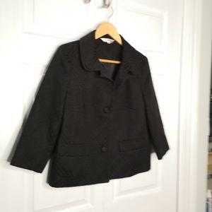 Sears Tradition Cropped Boxy Jacket Blazer Coat